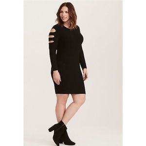 Torrid NWT Cutout Sleeves and Back Sweater Dress